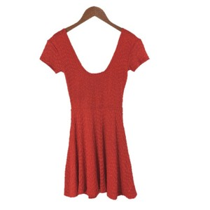 Sparkle & Fade short dress RED Skater Fitted Fall Night Out on Tradesy