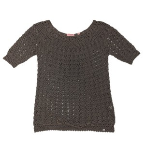 Ted Baker Crochet Knit Cotton Fall Sweater