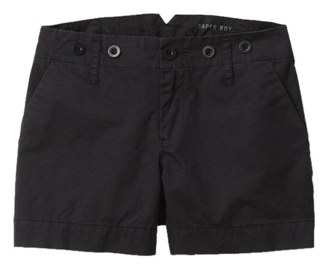 Item - Black And Twill Shorts Size 4 (S, 27)