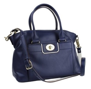 Kate Spade Purse Leather Satchel in Midnight