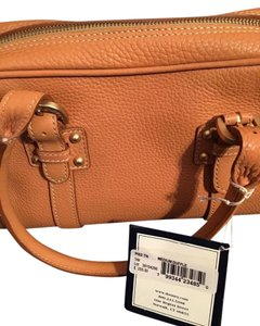 Dooney & Bourke Leather Satchel in Tan