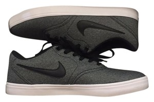 Nike Grey woth black nike swoosh and blue accents Athletic