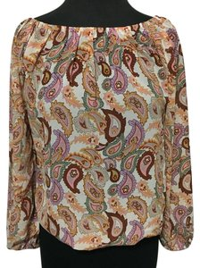 W118 by Walter Baker Top paisley-tan/pink/purple/orange/g