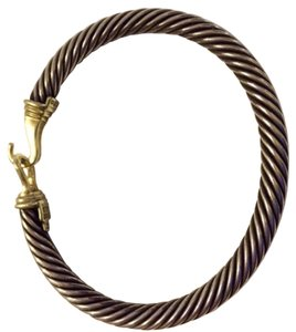 David Yurman Cable Buckle Braclet With Gold Buckle