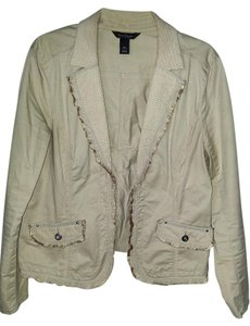 White House | Black Market Light Tan Womens Jean Jacket