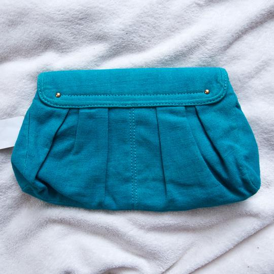 Stella McCartney Emerald Green 214024w9wln Teal Blue Clutch