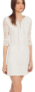 Maje short dress White lace on Tradesy