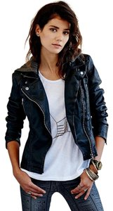 Free People Edgy Moto Faux Leather Vegan Leather Jacket
