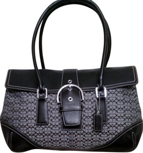 Coach Satchel in SV/Black/Gray