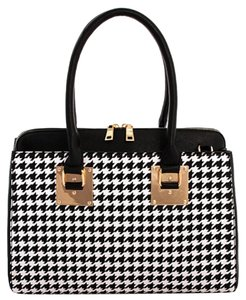 GlitterBuzzStyle Satchel in Black/White