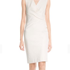 Diane von Furstenberg Layne Ruched Sheath Dress, White Dress