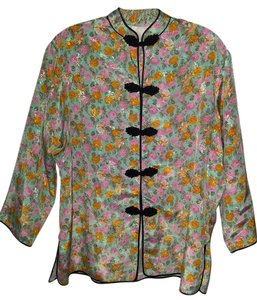 Other Chinese Satin Floral Jacket Xl Cardigan