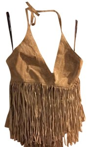bebe Tan Halter Top
