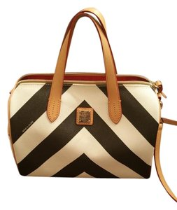Dooney & Bourke Satchel in Black and white chevron