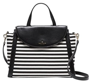 Kate Spade Cobble Hill Adrien Satchel in Black / Cream