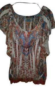 Apt. 9 Apt 9. Scoop Large Paisley Top Multi-colored