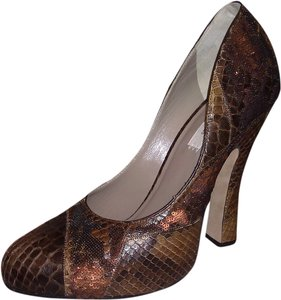 Marc Jacobs Crocodile Leather Brown Pumps