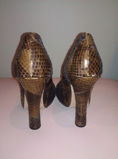 Marc Jacobs Crocodile Leather Sequin Leather Brown Pumps Image 4