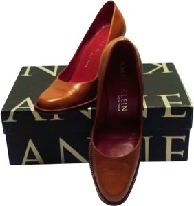Anne Klein Leather Chestnut Pumps