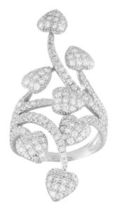BELLA LUCE Nwts/Bella Luce/Diamond Simulant/2.28cwt/Rhodium over Sterling Silver/THIS CAN NOT BE SIZED!