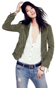 Free People Green Womens Jean Jacket