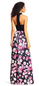 Adrianna Papell Halter Floral Gown Dress
