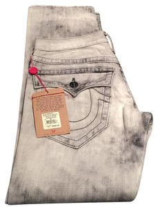 True Religion Mens New Relaxed Fit Jeans-Distressed