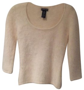 bebe Angora Scoop Neck 3/4 Sleeves Sweater