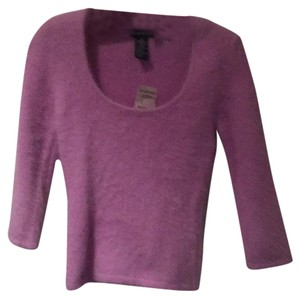 bebe Scoop Neck Angora Sweater
