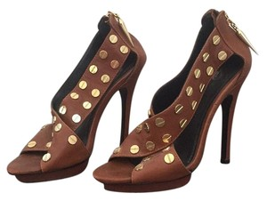 Rock & Republic Cognac & gold Platforms