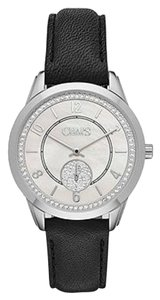 Chaps Chaps Women's Kasia Stainless-Steel and Black Leather Watch CHP1012