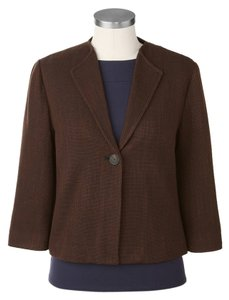 Coldwater Creek Stylish Professional Espresso brown Jacket