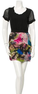 Diane von Furstenberg short dress Black and multicolor on Tradesy