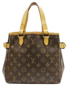 Louis Vuitton Lv Signature Vintage Leather Satchel in Brown