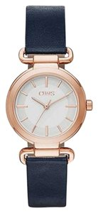 Chaps Chaps Women's Alanis Rose Gold-Tone and Navy Leather Watch CHP1013