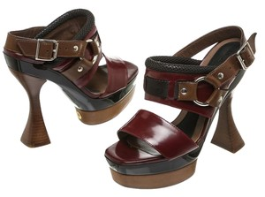 Marni Burgundy/Brown Sandals