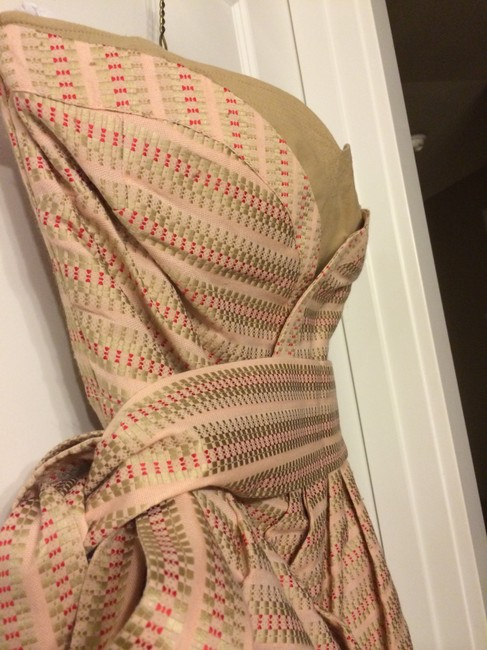 See by Chloé short dress Peach with gold & red stitching on Tradesy