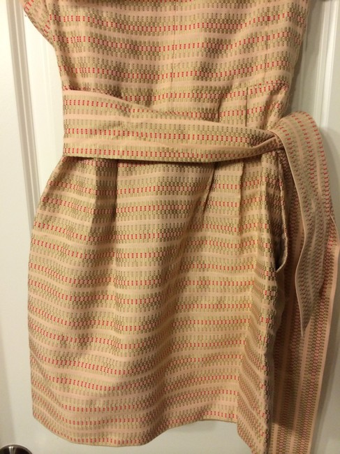 See by Chloé short dress Peach with gold & red stitching on Tradesy Image 3