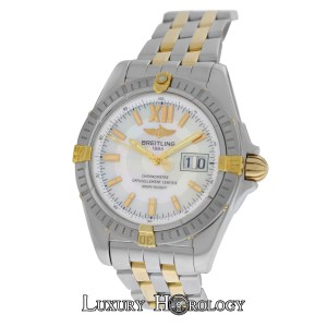 Breitling Mint Men's Breitling Windrider Cockpit B49350 Chronometer MOP Gold