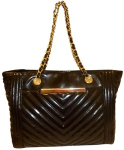 ALDO Nwt Patent Leather X-lg Tote in Black