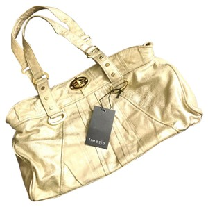 Treesje Satchel in Light Gold