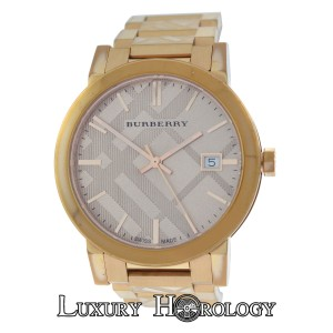 Burberry Ladies Burberry BU9039 Rose Gold Ion-Plated Steel Date Quartz 38MM