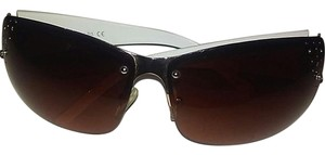Andrea Jovine Andrea Jovine White-Brown Sunglasses with Crystals- 100% UV protection