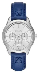 Chaps Chaps Women's Kasia Navy Leather Chronograph Watch CHP1005