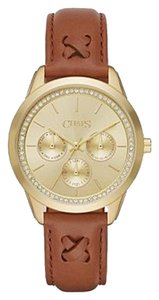 Chaps Chaps Women's Kasia Light Brown Leather Chronograph Watch CHP1004