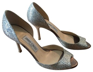 Jimmy Choo D'orsay Glitter Fabric Wedding Champagne Formal