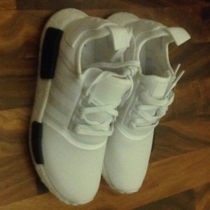 adidas nmd White with black Athletic