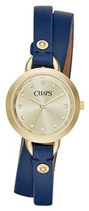 Chaps Chaps Women's Ardis Navy Leather Three-Hand Watch CHP1009