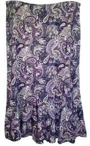 New York & Company 100% Polyester Midi Lenght Skirt MULTICOLOR