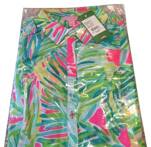 Lilly Pulitzer short dress Tropical pin, tropical storm on Tradesy